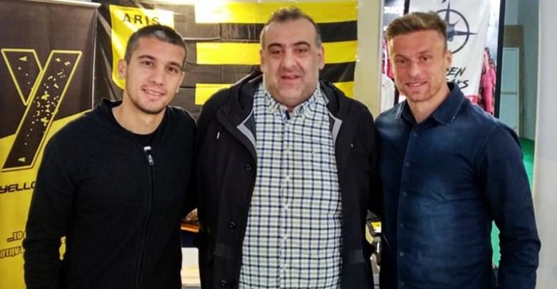 """Νίκιτς και Μαραγκός στο περίπτερο του Yellow Radio: """"Όμάδα και κόσμος όλοι μαζί μια γροθιά"""""""
