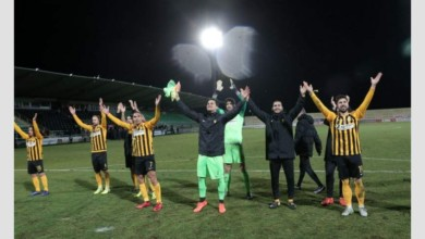"Photo of Μια γροθιά ομάδα και κόσμος! Χειροκρότημα και ""όλε"" μετά το τέλος του αγώνα (photos&video)"
